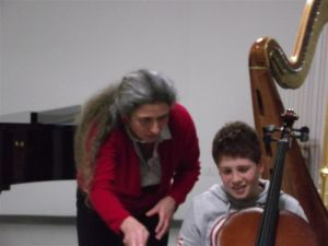 Cello player at the Havas New Approach workshop in Sassari