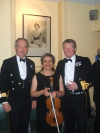 Corporate entertainment: Royal Navy dinner with music