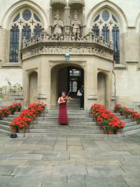 Music at a function in Oriel College in Oxford