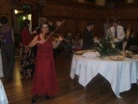Classical music entertainment at a reception in Oxford Town hall