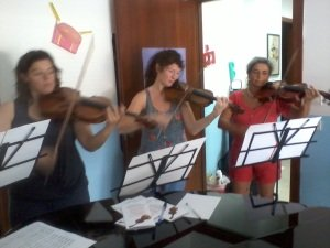Rehearsal for the concert in San Ferdinando
