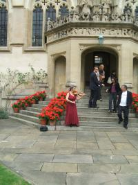 Reception music in Oriel College, Oxford