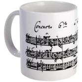 Mug with the facsimile of Bach's Brandenburg Concerto 6 for two violas