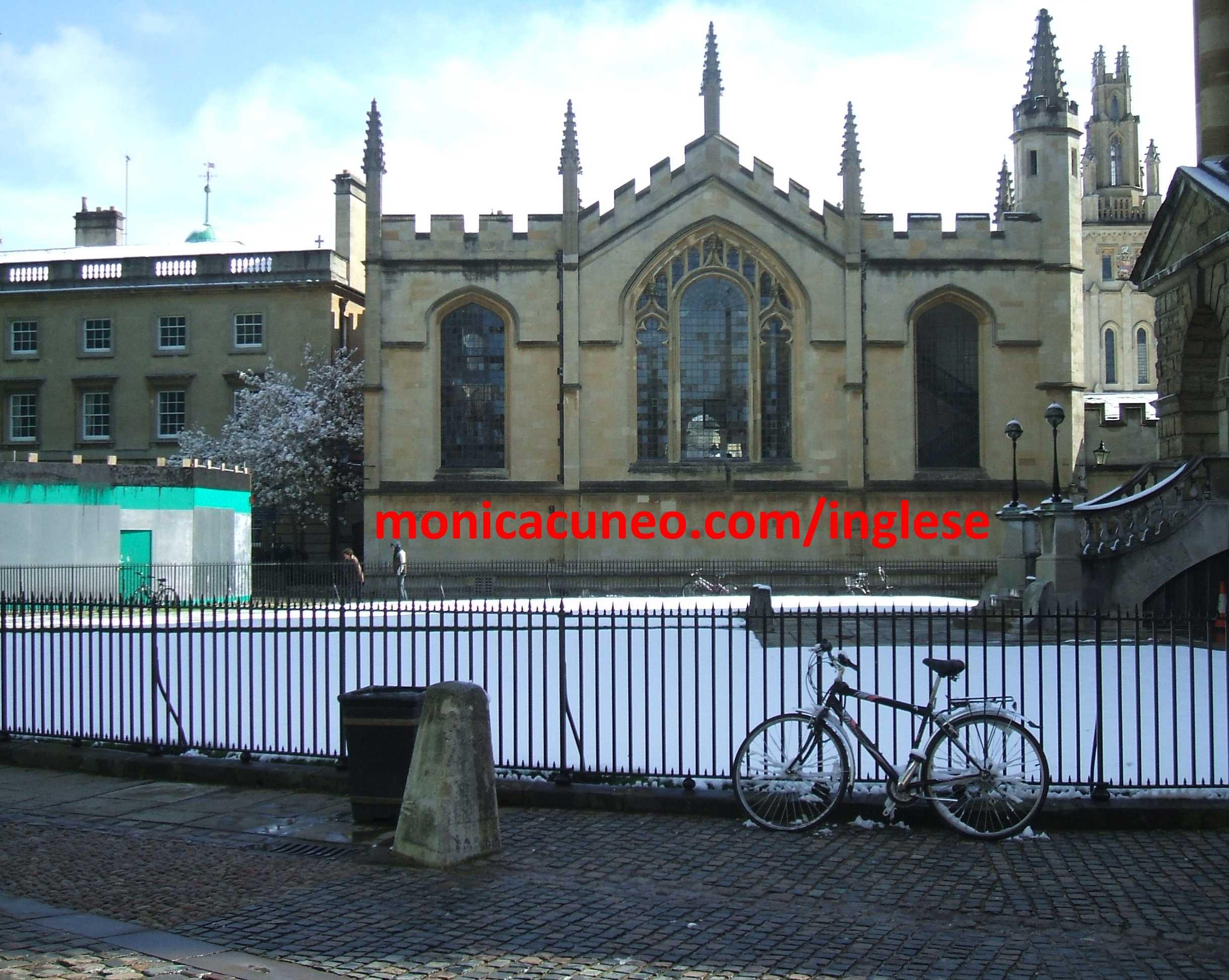 Oxford con la neve in Aprile!