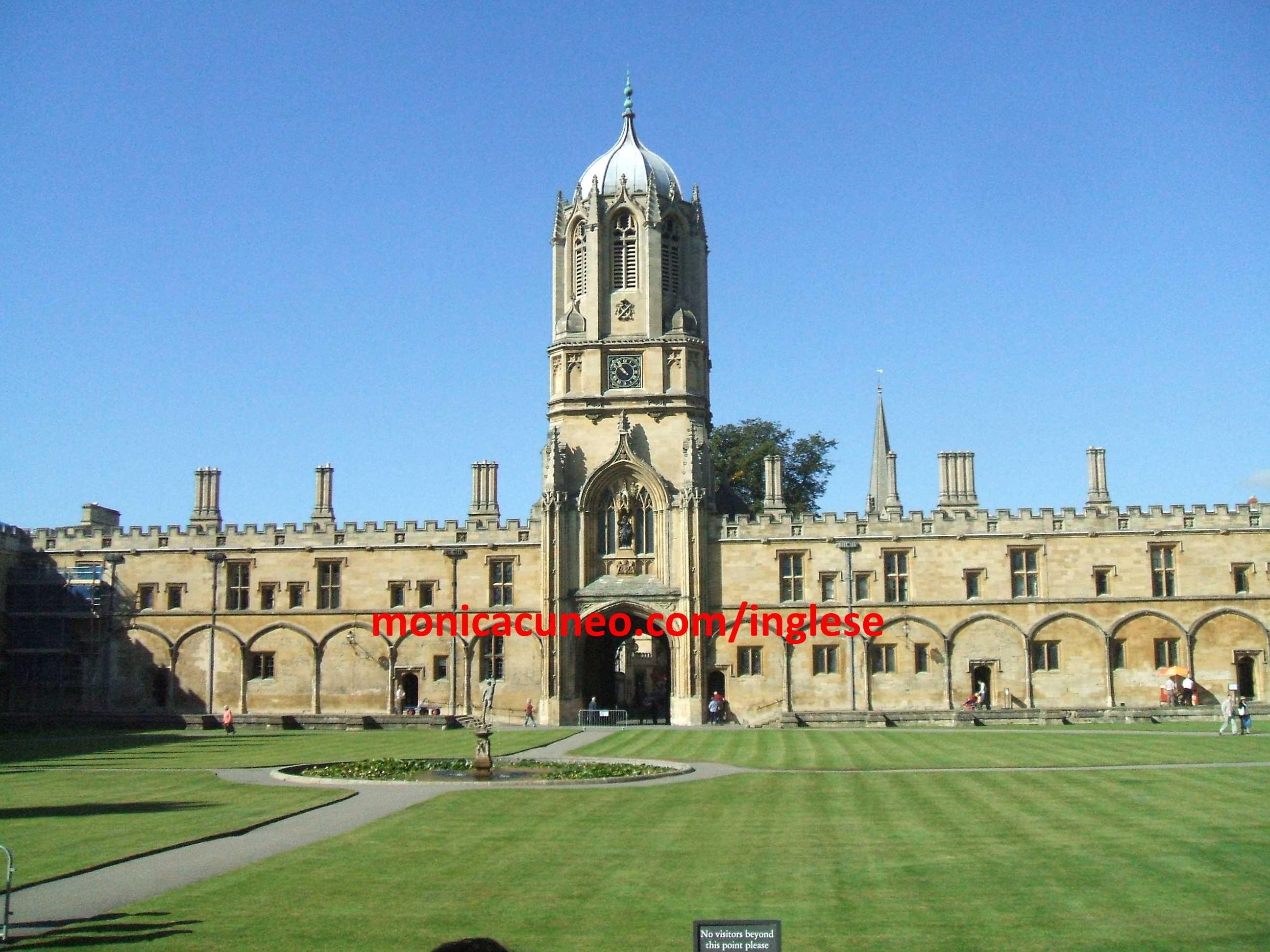 Il cortile (quad) principale di Christ Church College, Oxford