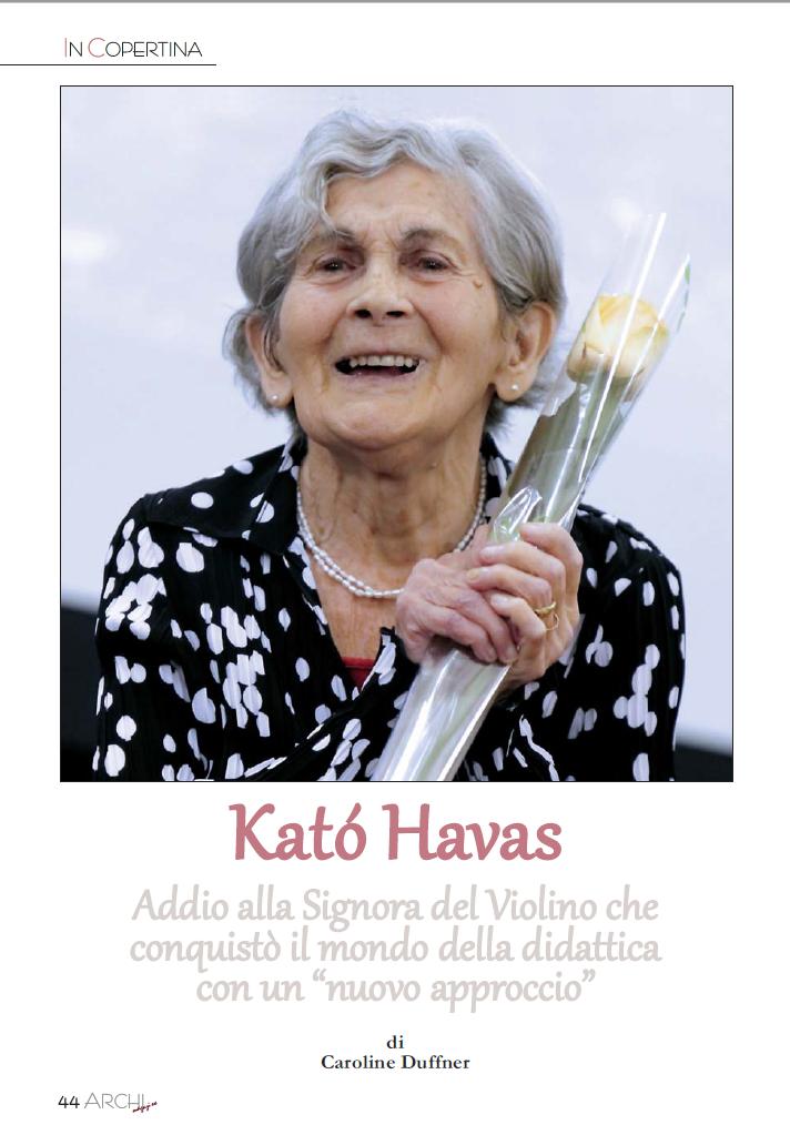 """Kato Havas: Addio alla Signora del Violino che conquistò il mondo della didattica con un """"nuovo approccio"""""""
