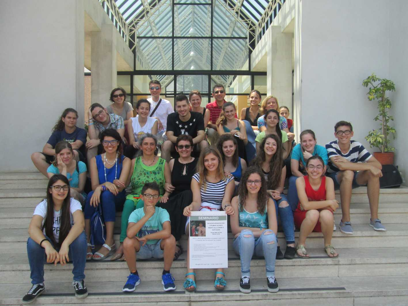 Seminario sul Nuovo Approccio tenuto al Conservatorio di Musica Licinio Refice di Frosinone da Monica Cuneo