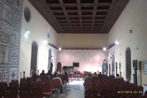 The New Approach workshop in Atina took place in this beautiful hall in the ancient Palazzo Ducale