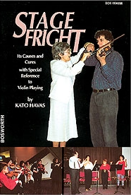 Kató Havas book Stage Fright (the first and original book ever written on this!) focuses on this aspect, a serious problem that most violin & viola players experience, offering effective solutions