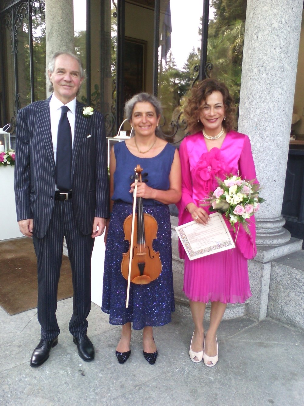 One more couple who chose me as their wedding musician for their civil ceremony, in Villa Confalonieri, Merate, Italy