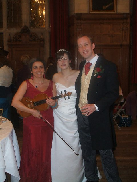 Wedding musician in Oxford Town Hall. Another wedding reception with viola