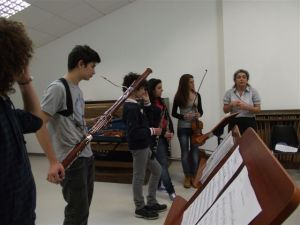 Wind players, participants at the Havas New Approach workshop in Sassari