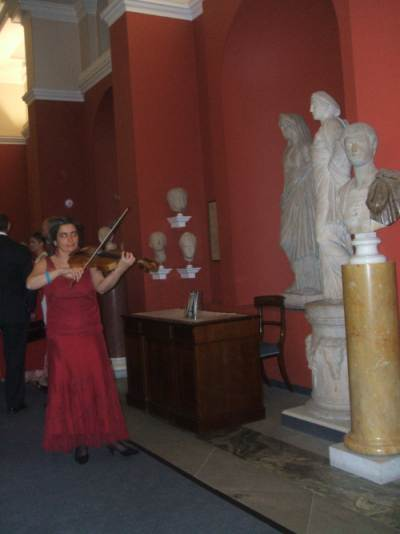 Music entertainment at a reception in the Ashmolean Museum, Oxford