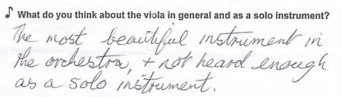 Comment about viola
