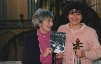 Kató Havas e Monica Cuneo all'uscita del libro La paura del pubblico