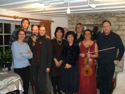 Classical music entertainment for a private reception for a graduation party at home