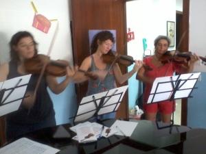 Prova per il concerto a San Ferdinando
