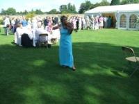 Classical music entertainment at a garden tea party - Christ Church, Oxford