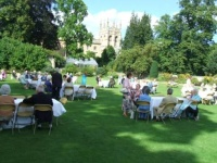 Music entertainment at a reception in Oxford: Masters' Graden, Christ Church Cathedral