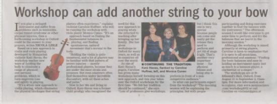The Oxford Times article on New Approach workshop