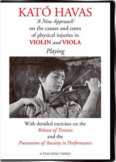 Kato Havas New Approach teaching video, for violin & viola players (but not only), to prevent & eliminate musicians' injuries, stage fright