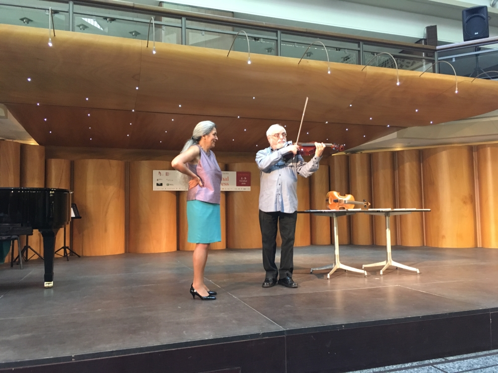 Michael Kugel, Monica Cuneo. Havas New Approach workshop. 43rd International Viola Congress, Cremona