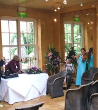 Wedding music in Oxford for a civil ceremony in a licensed restaurant